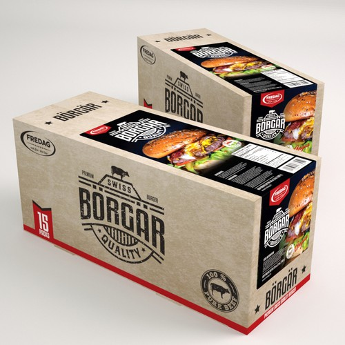Packaging for Borgar