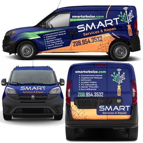 RAM van wrap for SMART company