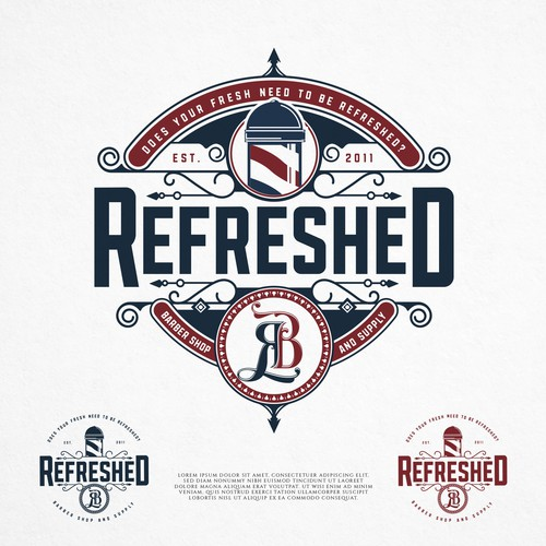 Create a sleek yet bold new logo for modern Barber shop