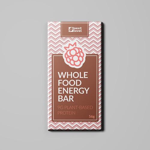 elegant wrapper design for whole food energy bar