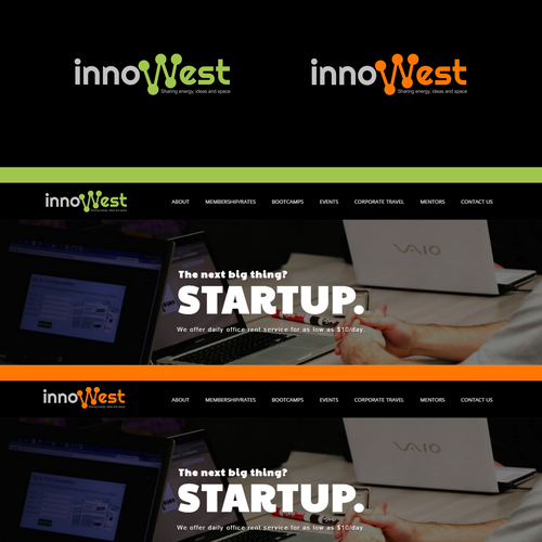 innowest logo for sharing slogan