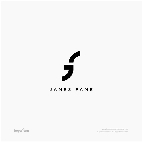 Logo design of James Fame