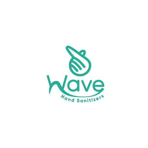 Hand logo sanitizer