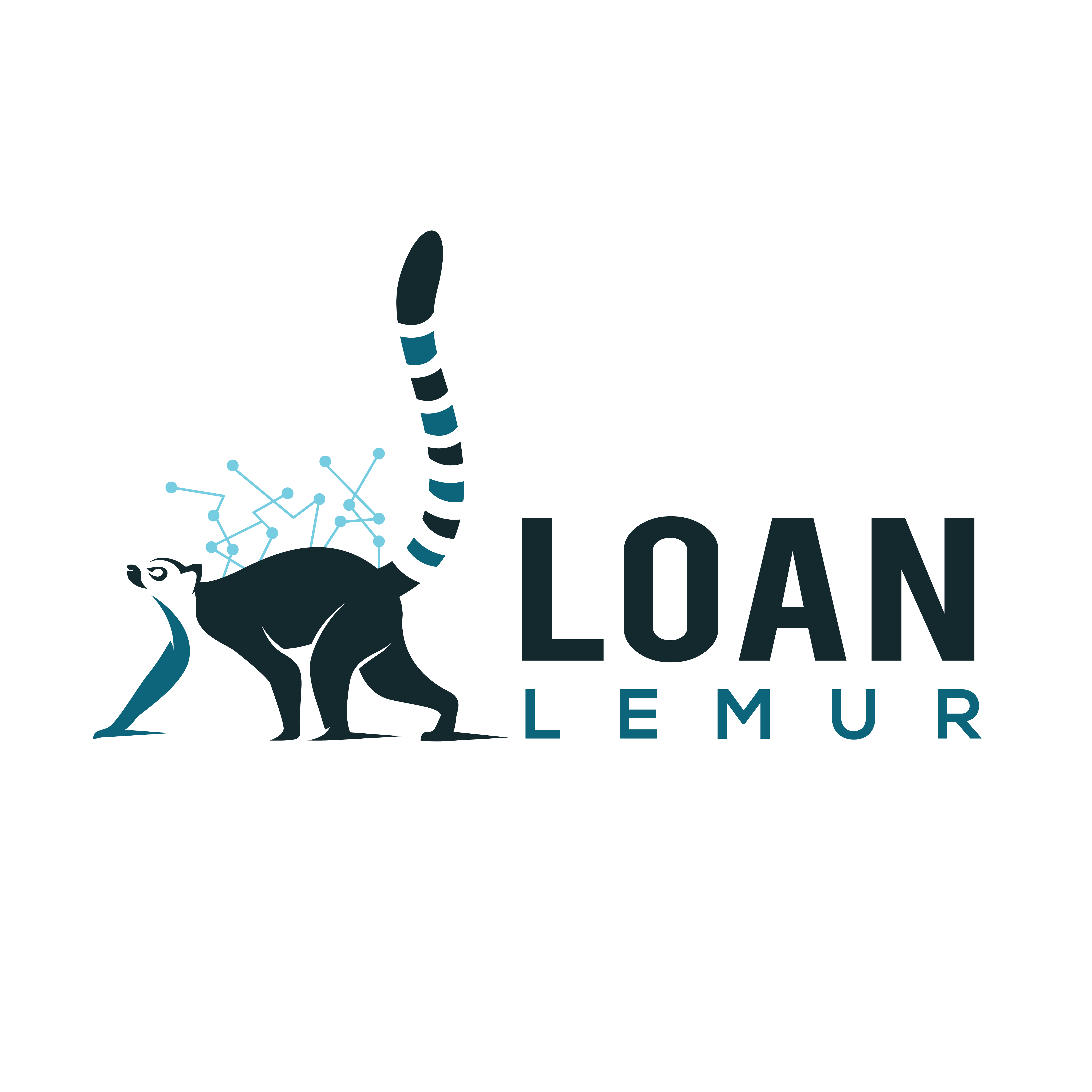 Create a logo for LoanLemur that is quirky enough to stand out, but classy enough to attract bankers