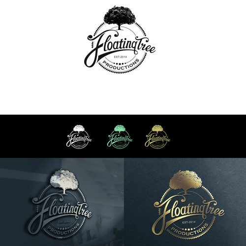 Create a clean, organic, vintage/retro look and feel with stylized font for Floating Tree Video Productions