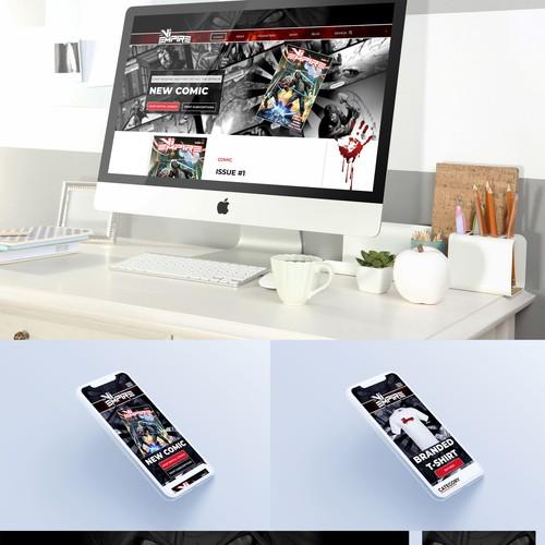 Bold design for a vampire comics site