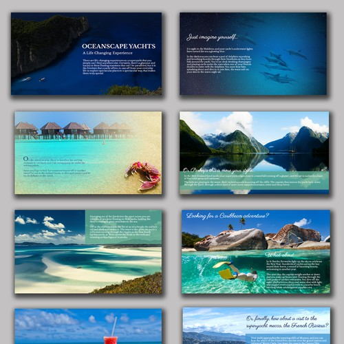 A Visual Presentation to Showcase Yacht Vacation