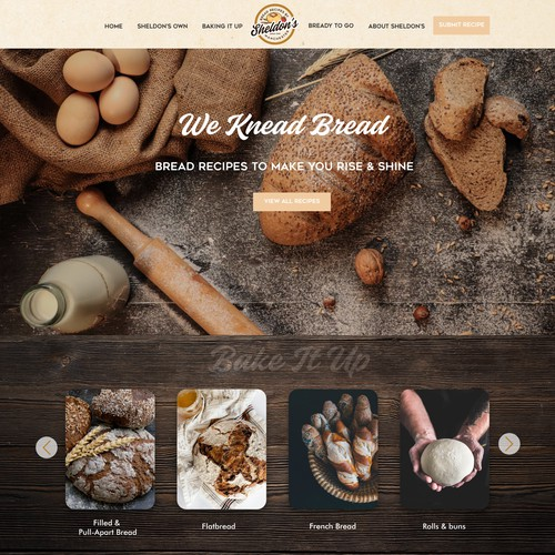 Home page for Bread Recipes Business