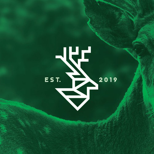 Clean Geometric shape Logo style for Deer Intelligence