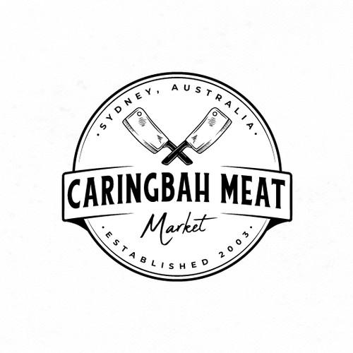 Vintage logo for Meat Market.