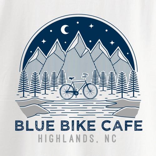 Blue Bike Cafe T-Shirt