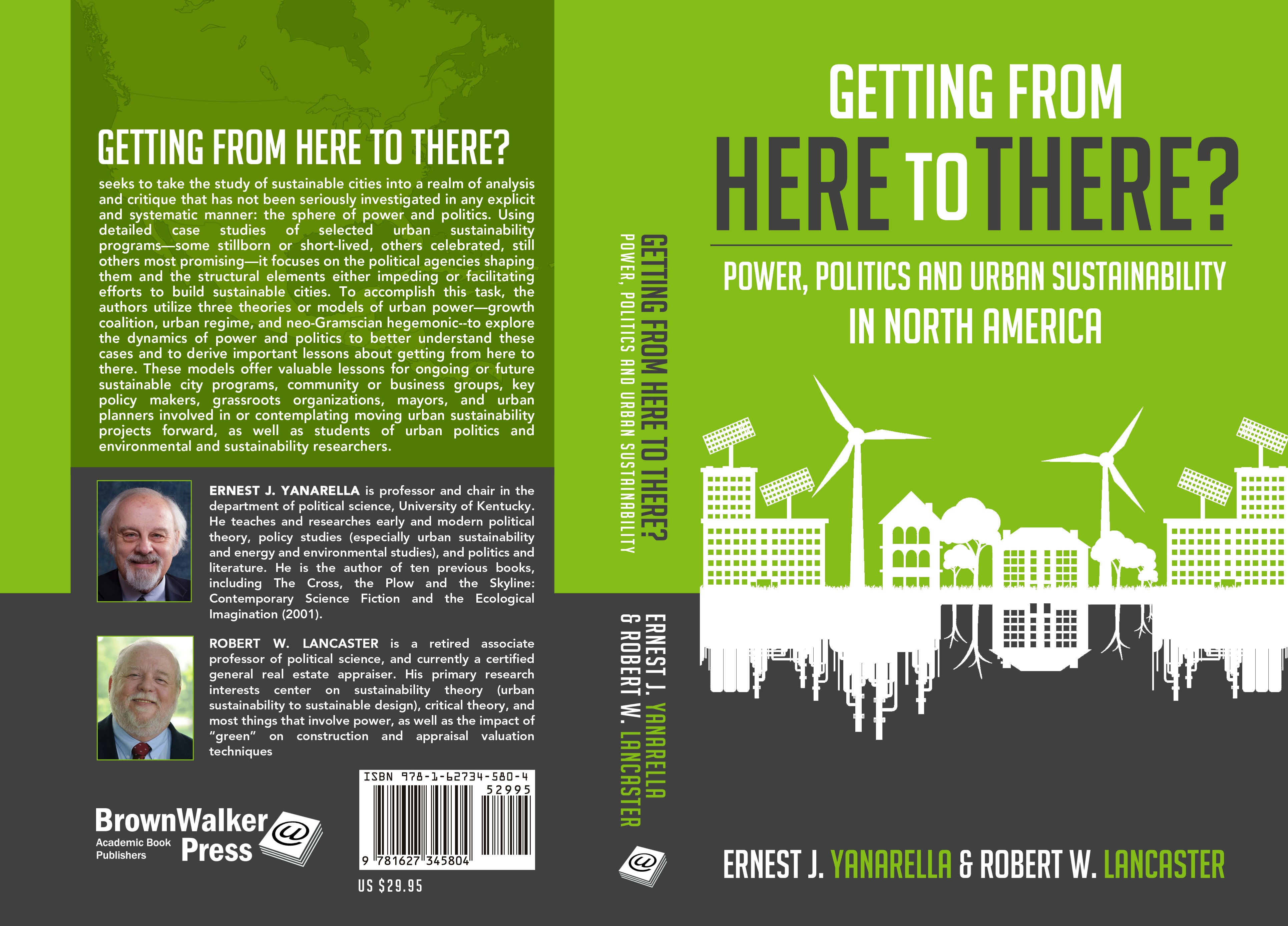 Academic book cover: Getting from Here to There? Power, Politics and Urban Sustainability in North A