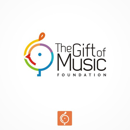 Logo for a music foundation.