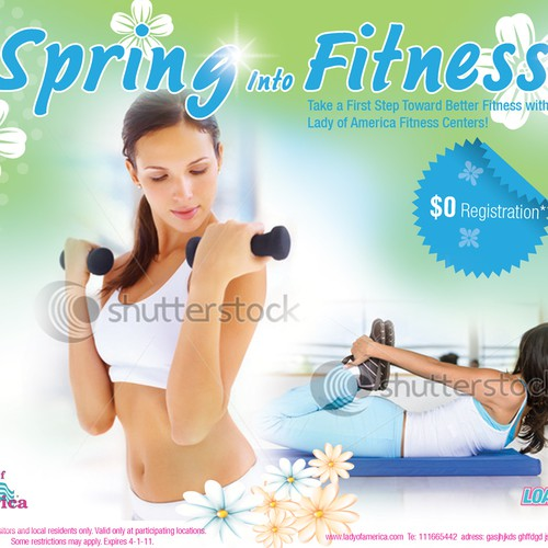 "Women's Only Fitness Center Ad - ""Spring Into Fitness"""