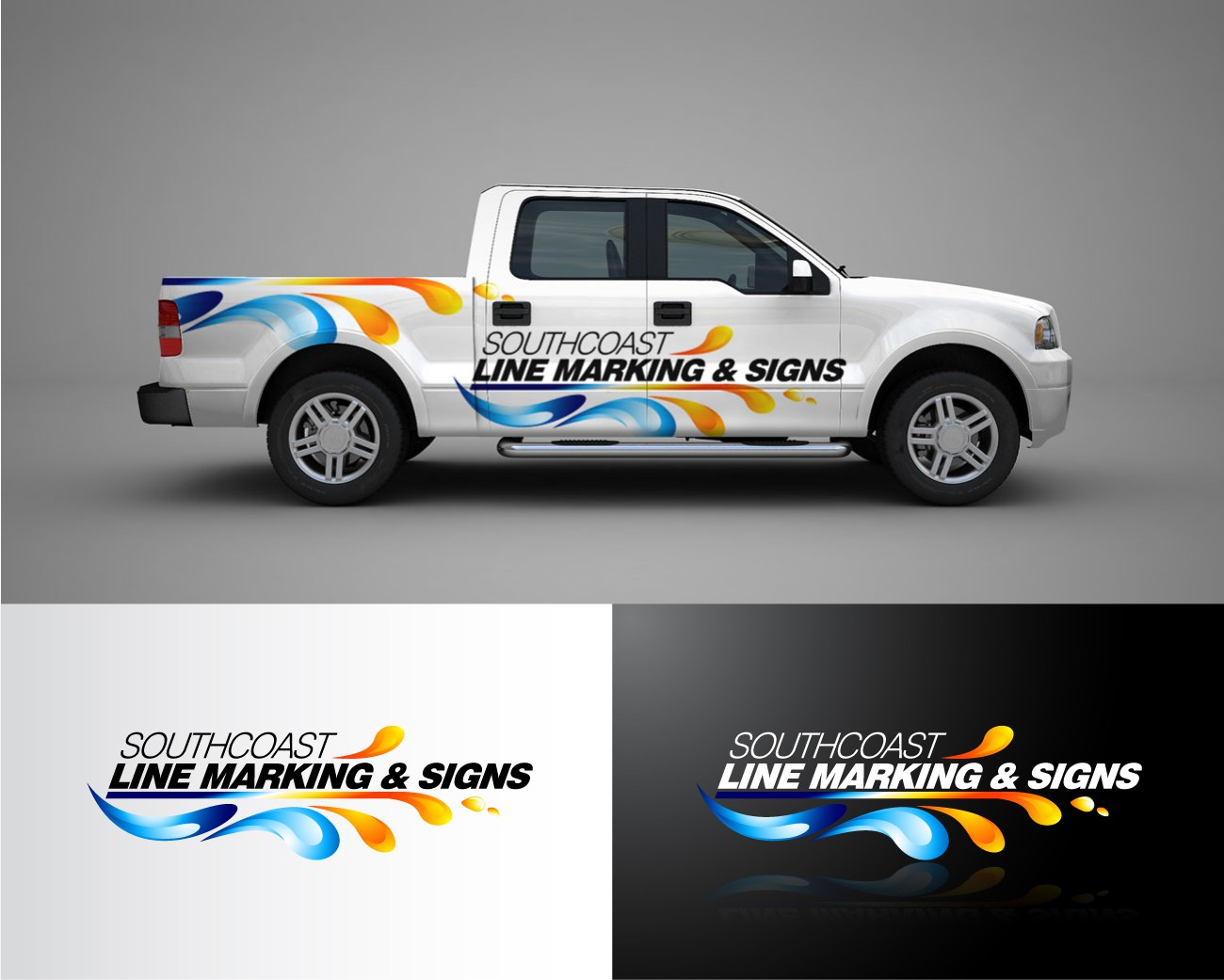 B creative! impress brush skilled signwriters with a new logo for a south coast business