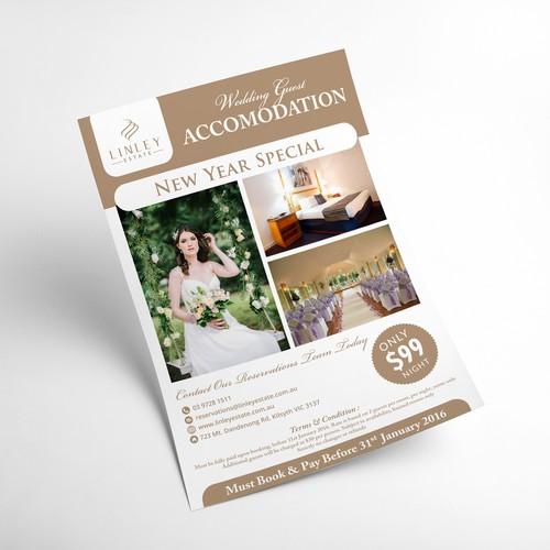 Flyer Design for Wedding Guest Accomodation