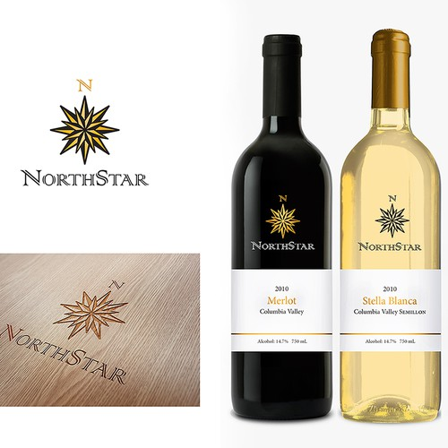 Create a logo/wine label for an all natural produced line of Wines!