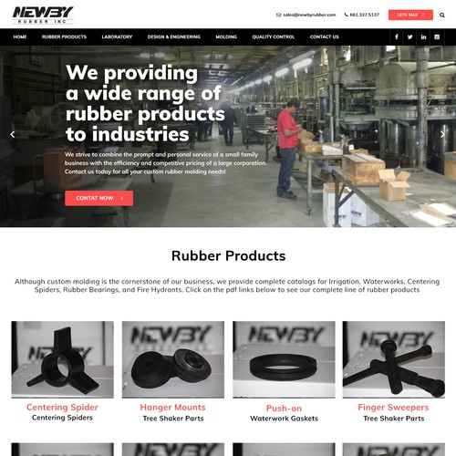 WEBPAGE DESIGN FOR RUBBER INDUSTRY