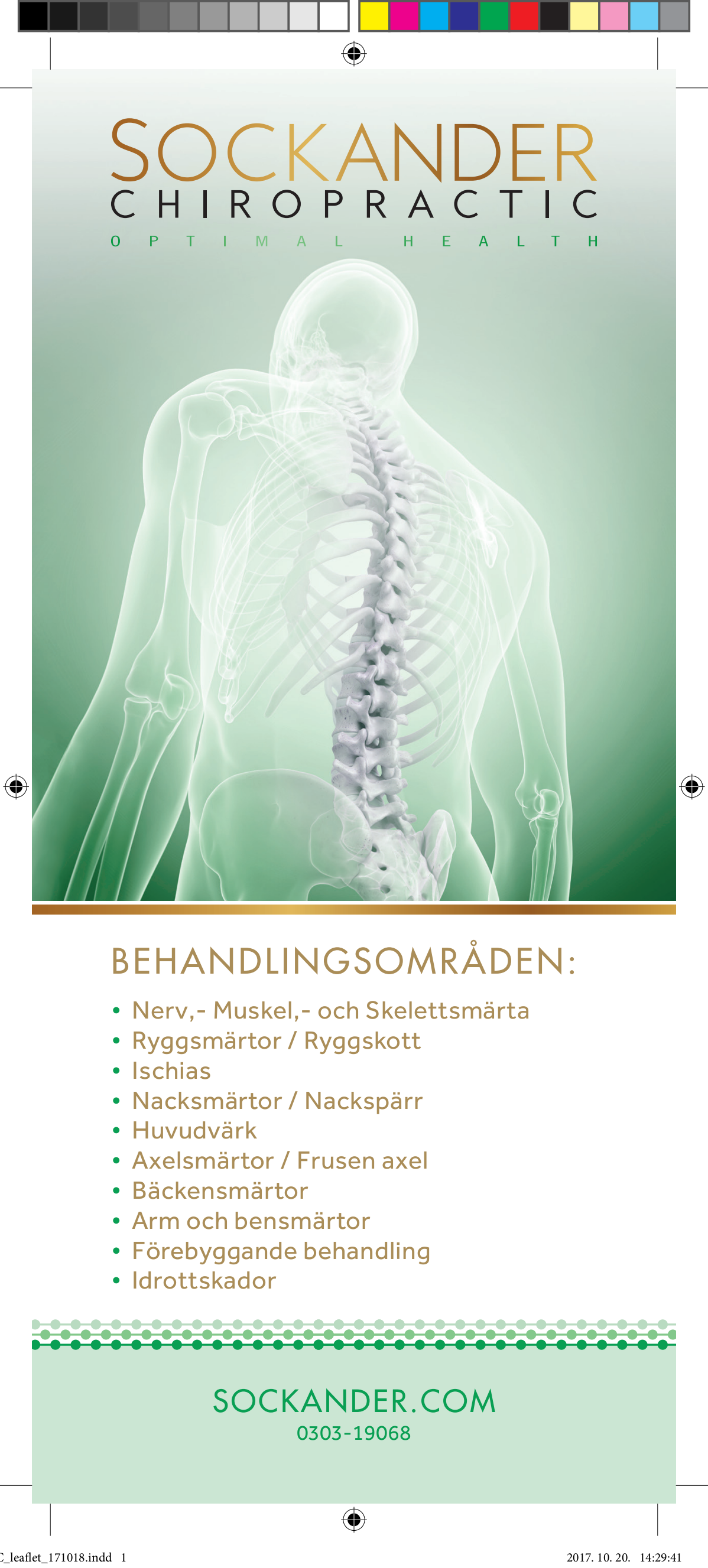 Leaflet - Chiropractic clinic