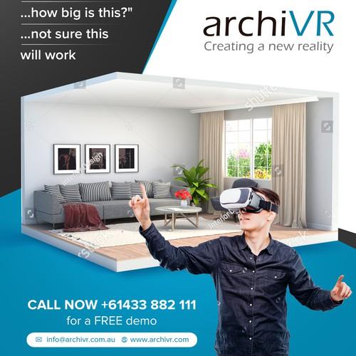 Simple and elegant flyer design for ArchiVR