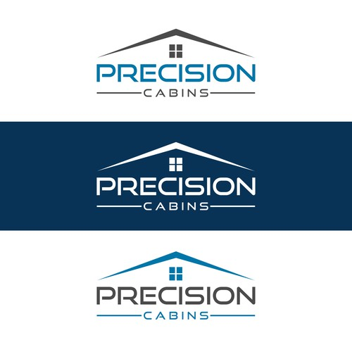 Precision Cabins Logo Design