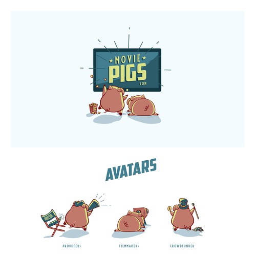 Brand Identity for Movie Pigs