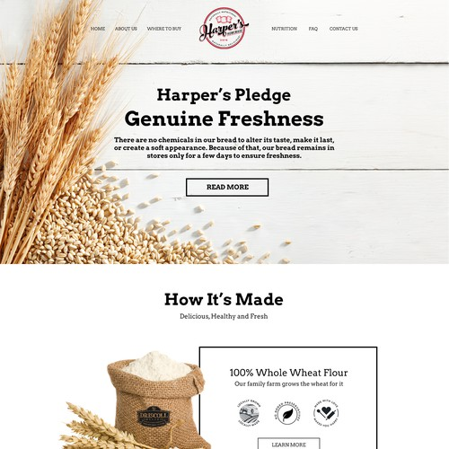 Home Page for Harper's Homemade Bread