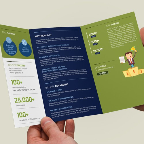 Go bold & creative! Be innovative and unique for Themis: shakeup the traditional corporate brochure