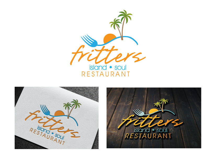fritters island soul restaurant needs a new logo