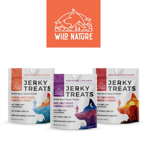 Logo, packaging desing and social media pack for dog treats