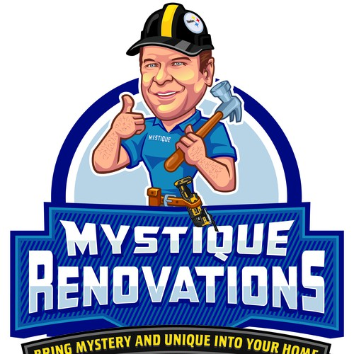 Mystique Renovations Logo and Mascot