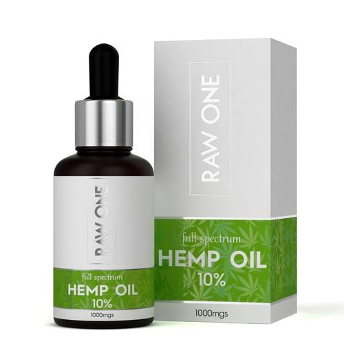 Hemp Oil label and box design