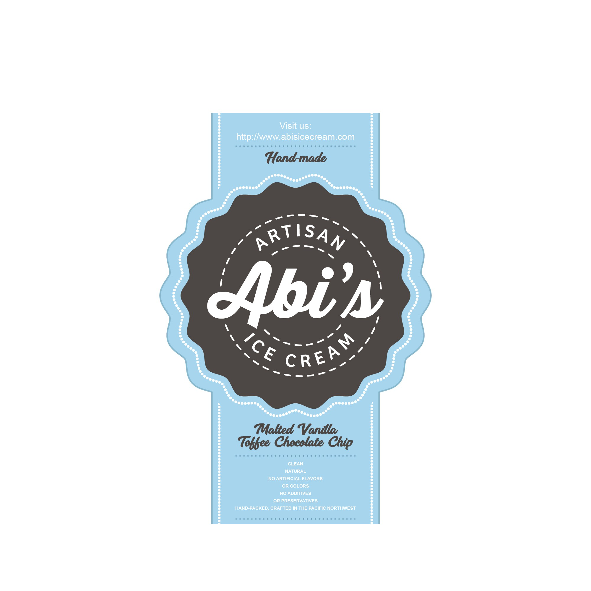 Abi's Ice Cream - Hip & Modern Ice Cream Pint Food Label Contest