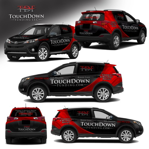 Eye Catching Full Car Wrap for TouchDown Funding; Commercial/Multi-Family Mortgages, Business Loans