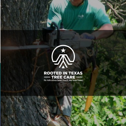 Monogram line logo for Rooted in Texas Tree Care