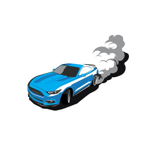 illustration ford mustang
