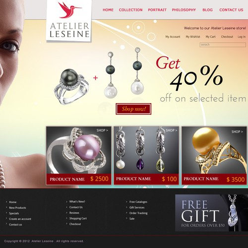 Help Atelier Leseine (jewelry) with a new website design