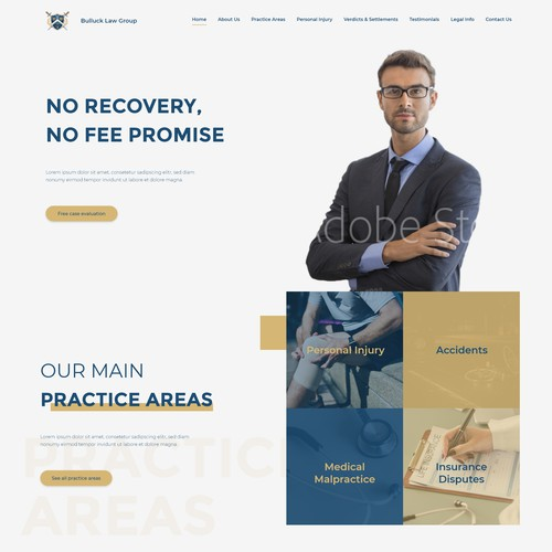 Clean and creative Law firm website design