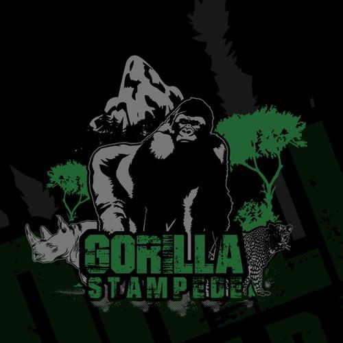 Design  T-shirt/Logo Gorilla Stampede .