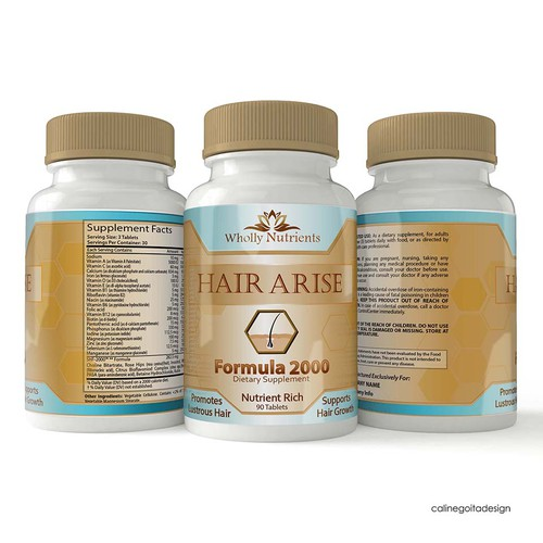 Label for Hair Growth Supplement