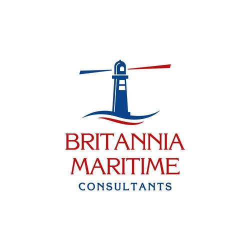 Logo concept for Britannia Maritime Consultants