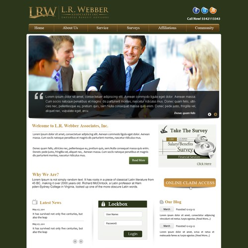 We need your help creating a great new website design for L.R. Webber
