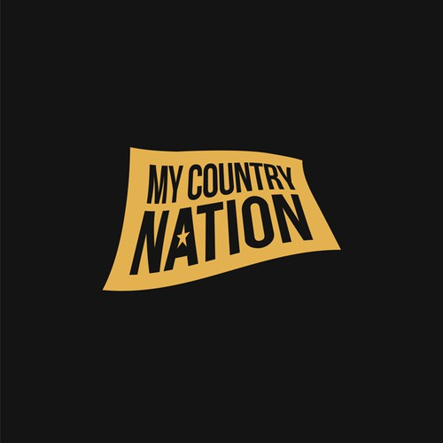 Bold Country Music Logo for My Country Nation