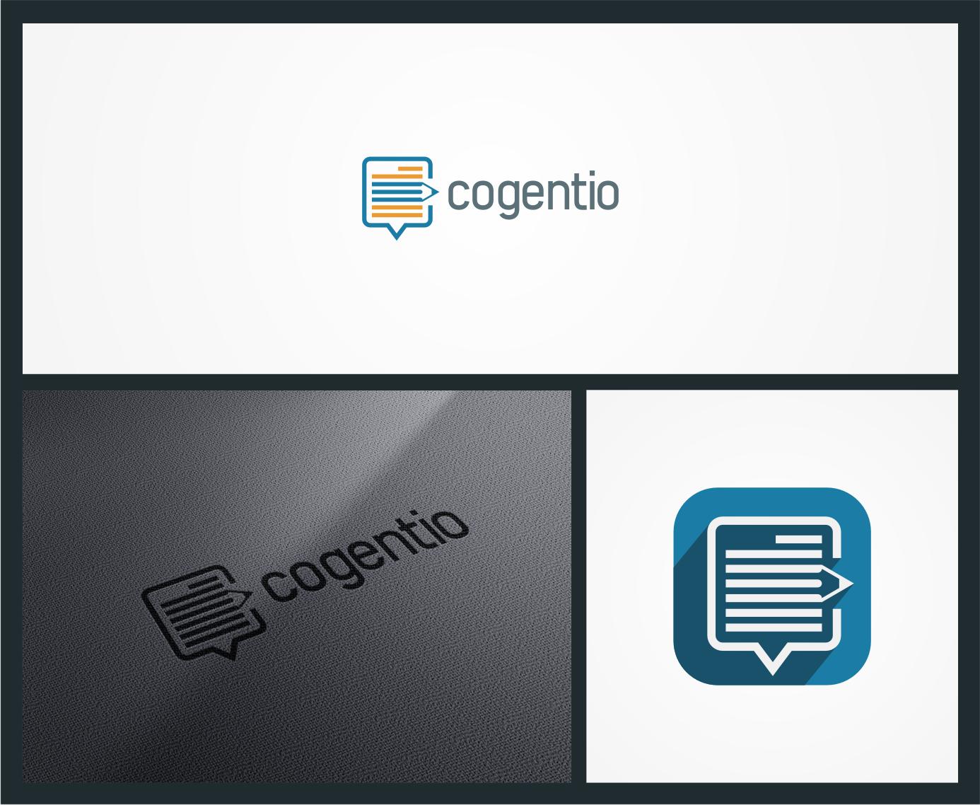 Create an inaugural corporate logo for Cogentio, a SaaS database