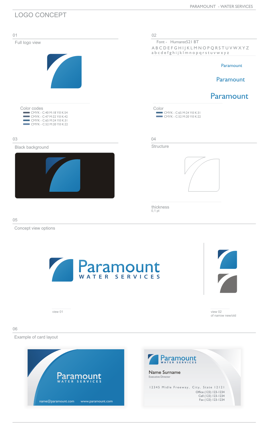 Create the next logo for Paramount Water Services
