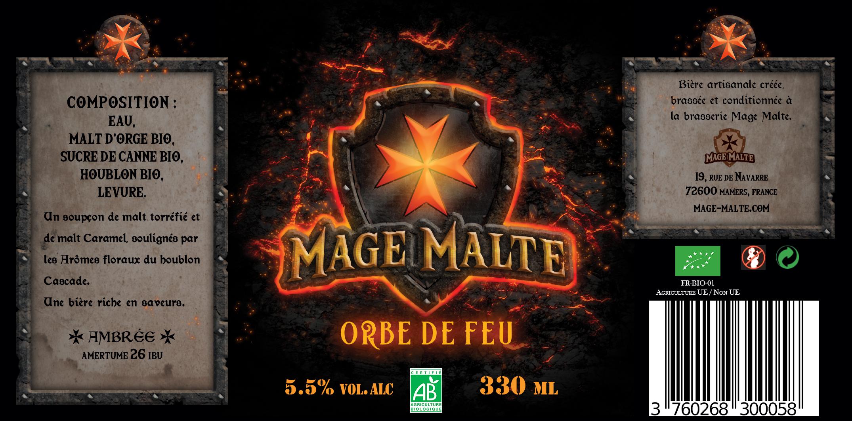 Redesign des étiquettes de la brasserie Mage Malte