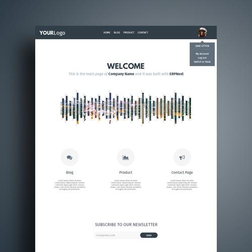 Online Service Default Theme Web Design
