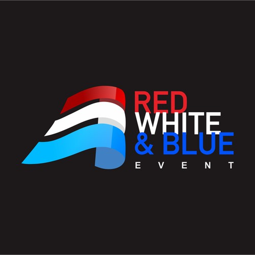 Red White and Blue Event Logo