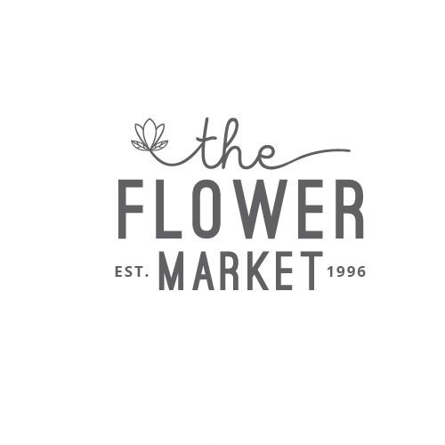 Flower market logo