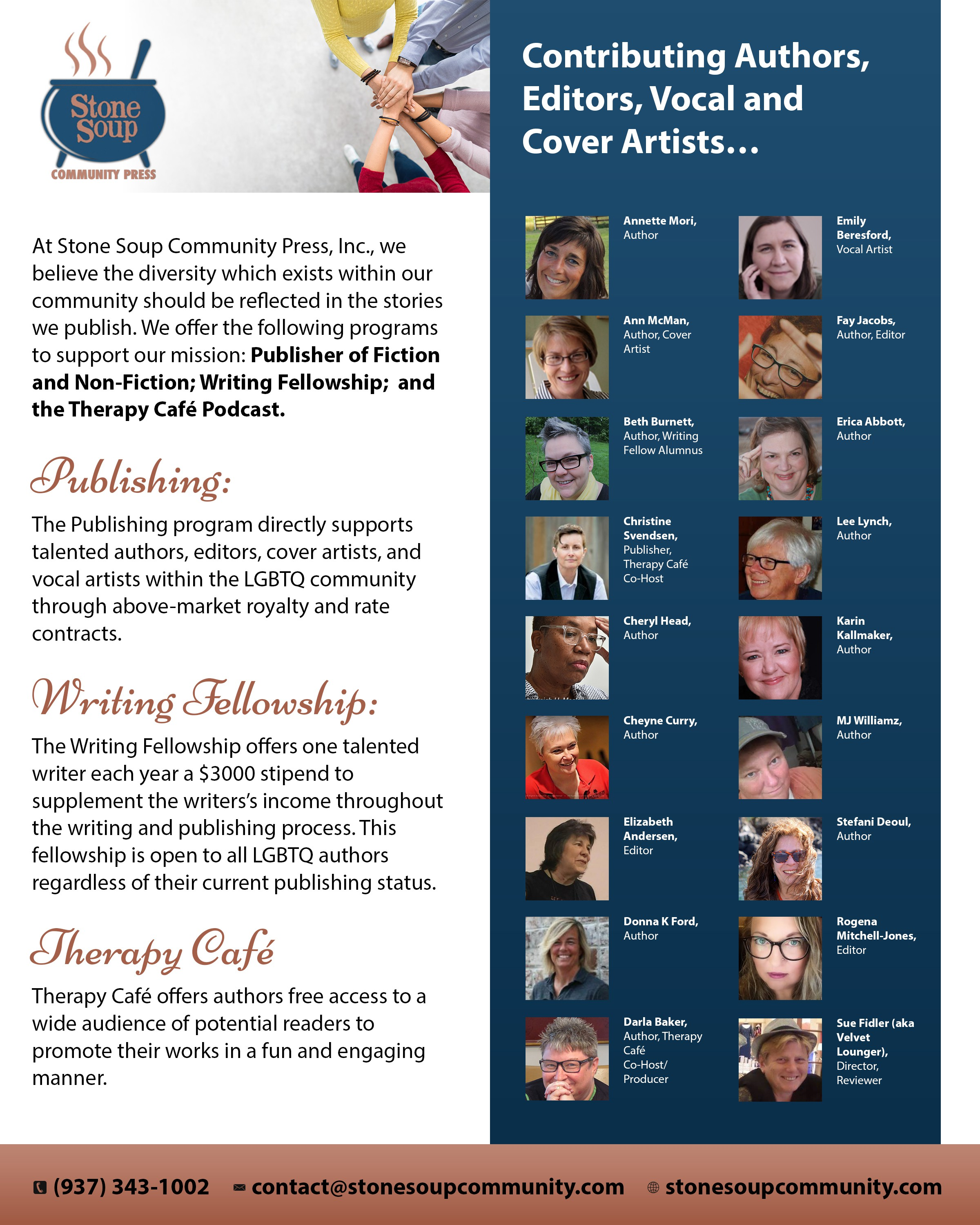 Create a Full Page Color Ad for a printed program for a literary awards event